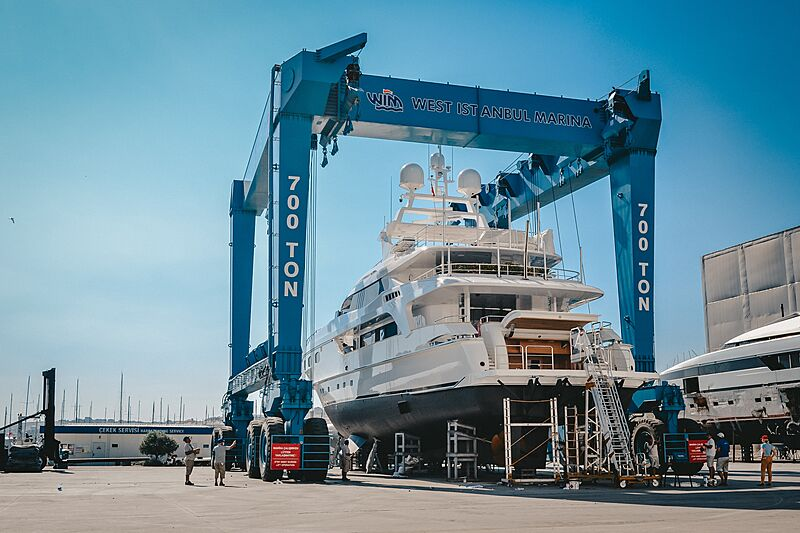 Ira yacht in refit at West Istanbul Marina