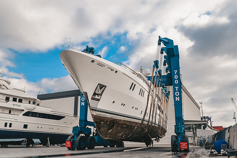 Hadia yacht in refit at West Istanbul Marina