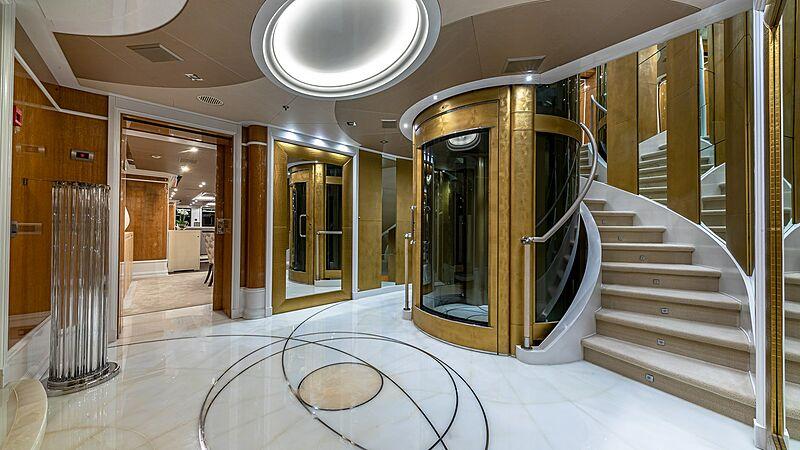 Andiamo yacht staircase