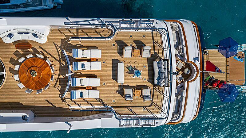 Andiamo yacht deck