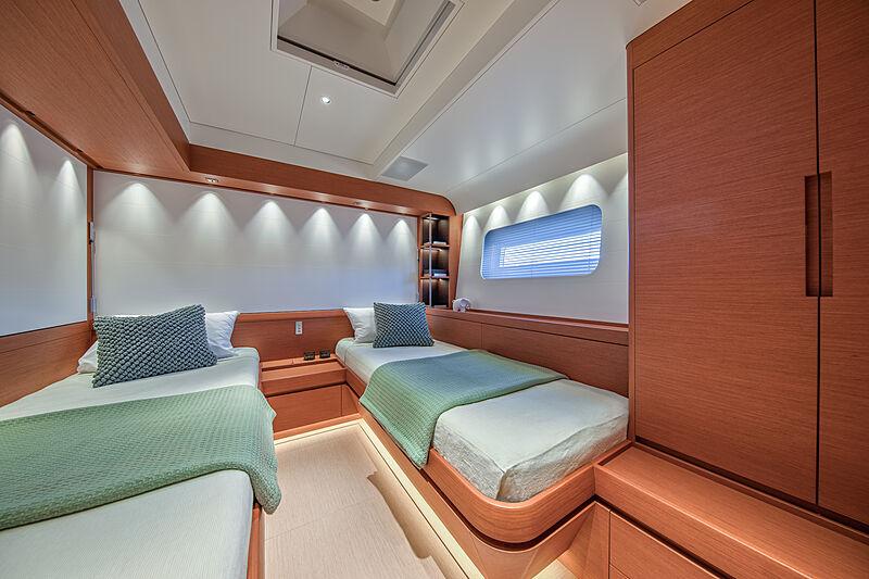 Morgana yacht stateroom