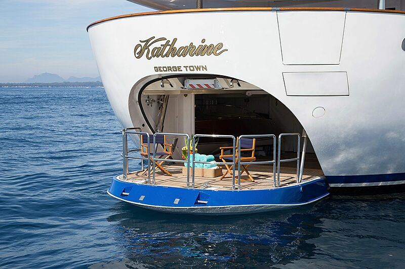 Katharine yacht stern
