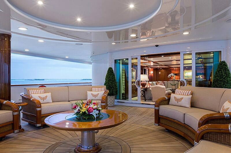 Katharine yacht aft deck