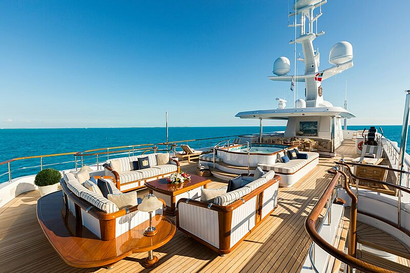 Katharine yacht sundeck
