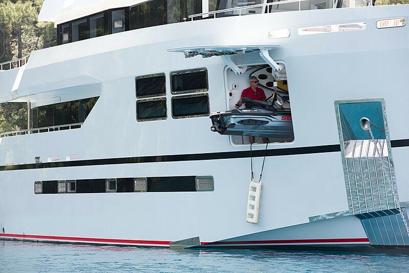 Big Joy yacht at anchor