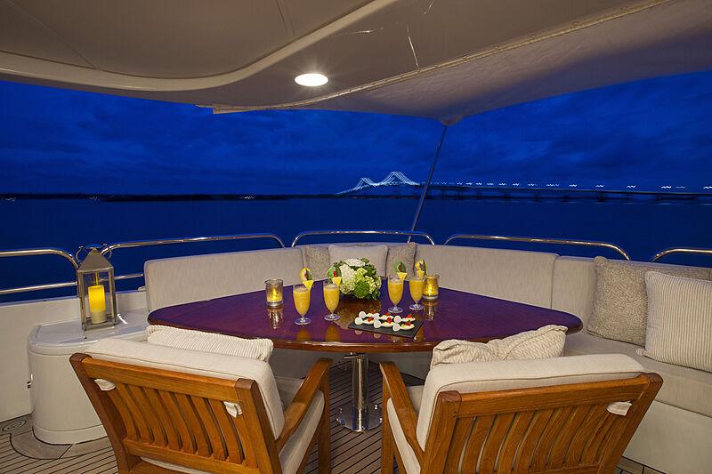 Domani yacht deck