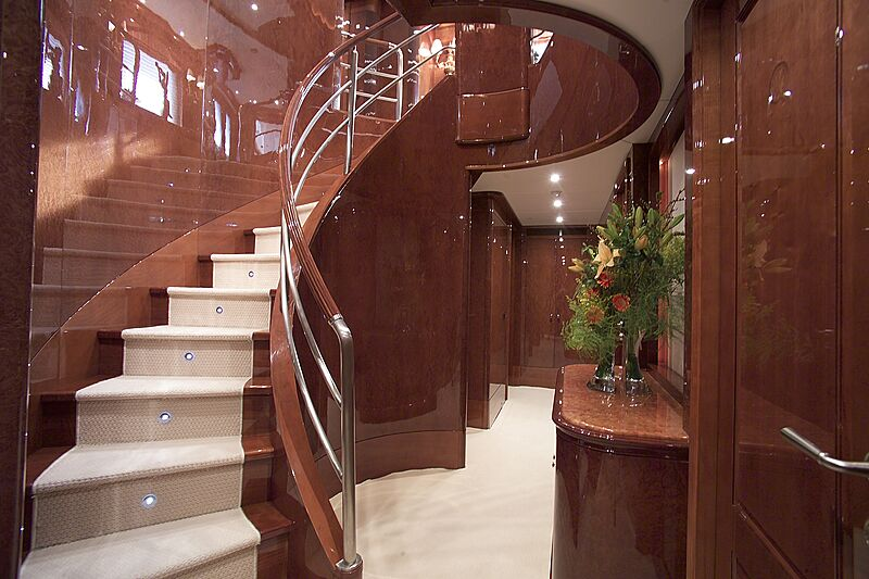 Domani yacht hall and staircase