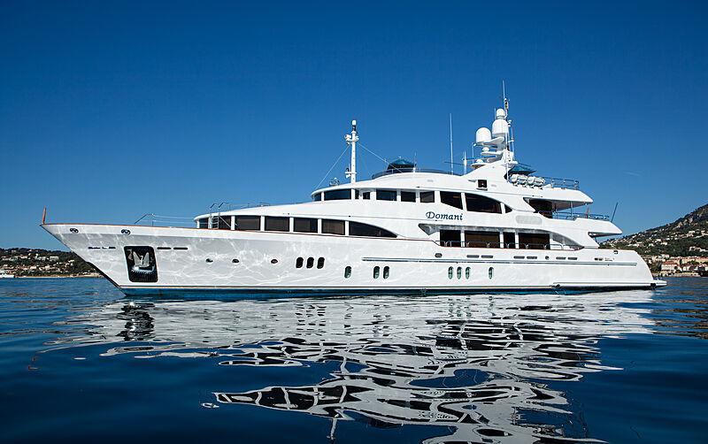 Domani yacht anchored