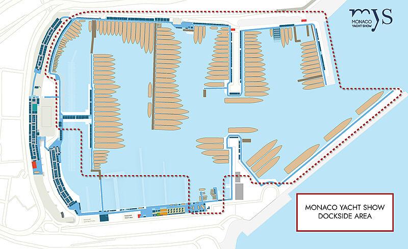 Monaco Yacht Show 2021 Dockside Area