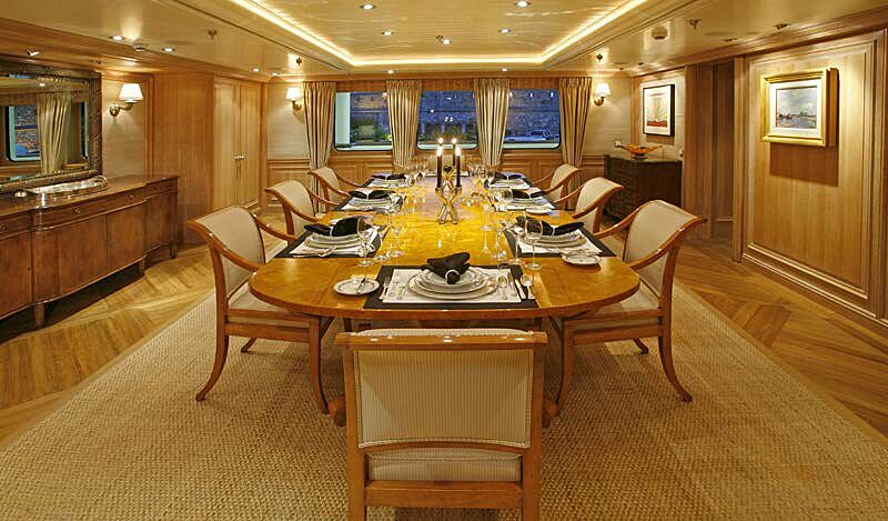 Tatoosh yacht dining