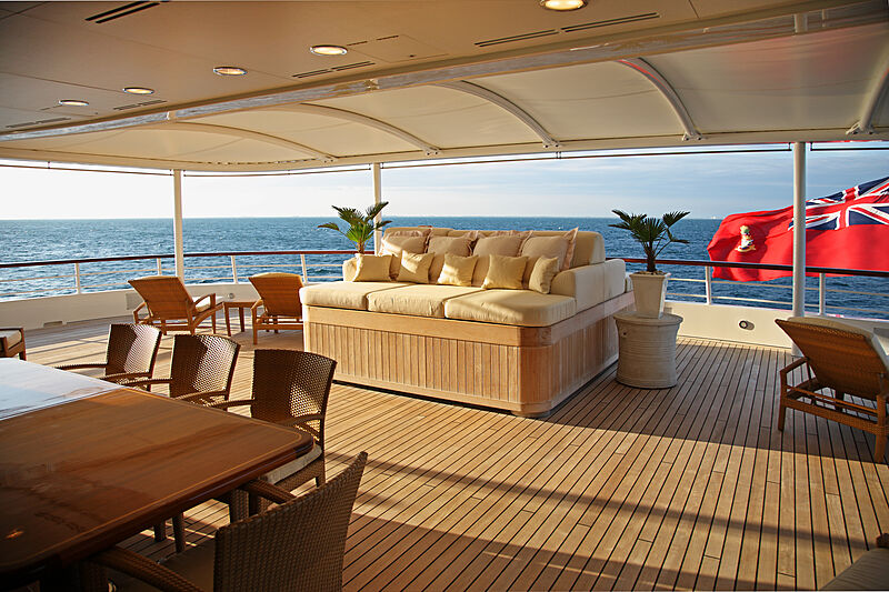 Tatoosh yacht aft deck