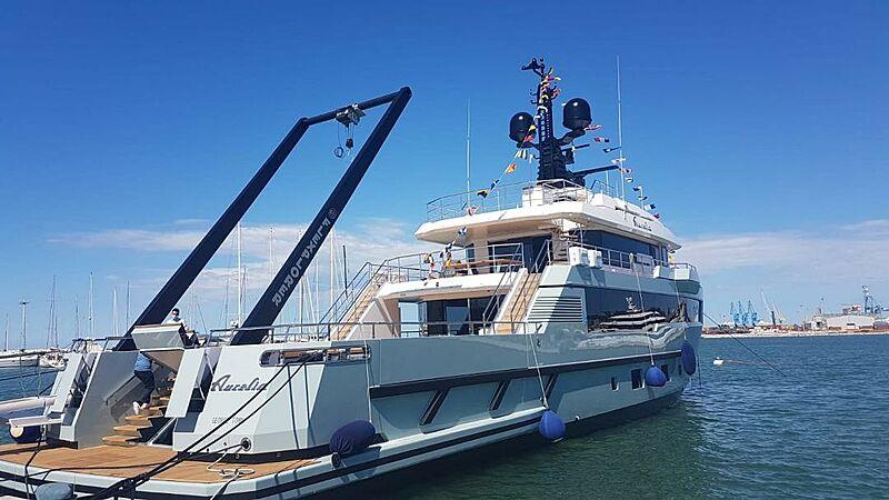 Aurelia yacht A-Frame crane