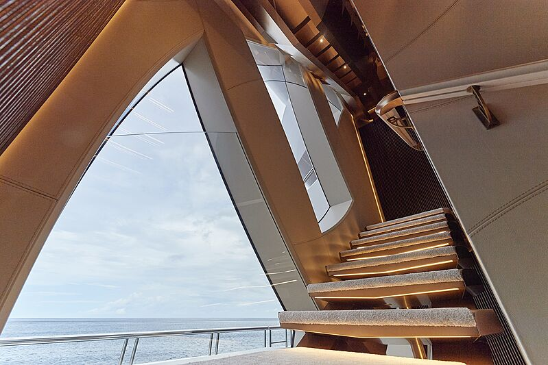 Artefact yacht staircase