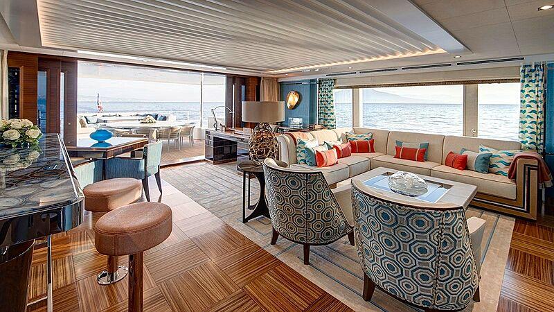 Moon Sand yacht saloon