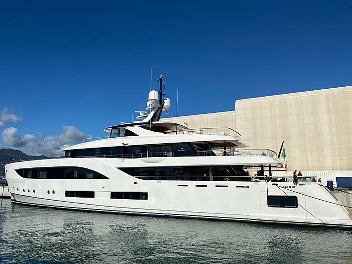 54m Baglietto Motor Yacht at the Baglietto shipyard