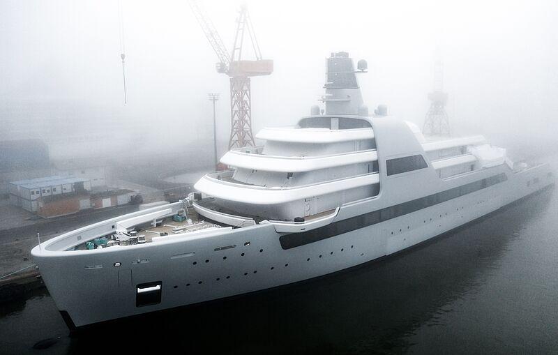 Solaris yacht launch at Lloyd Werft, Bremerhaven