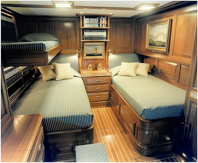 Anakena yacht stateroom