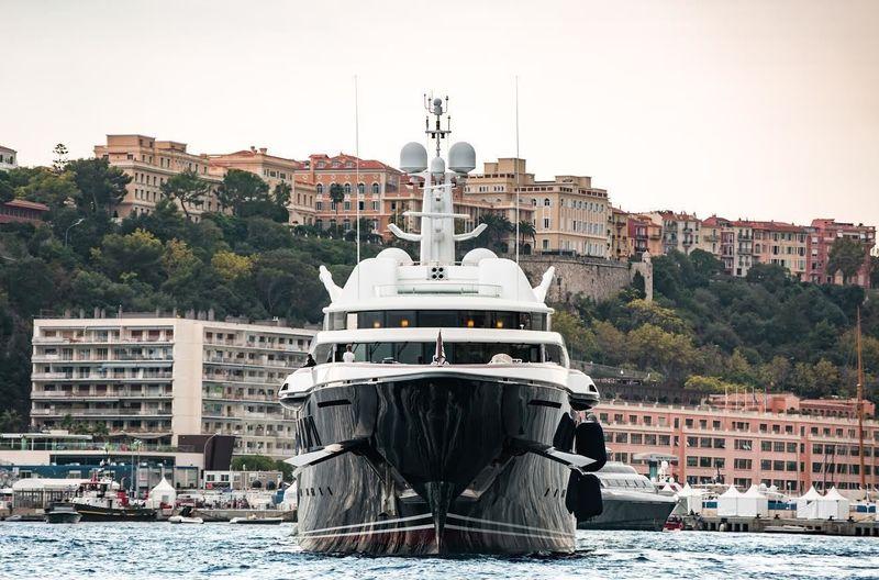 Oceanco's Anastasia arriving in Monaco