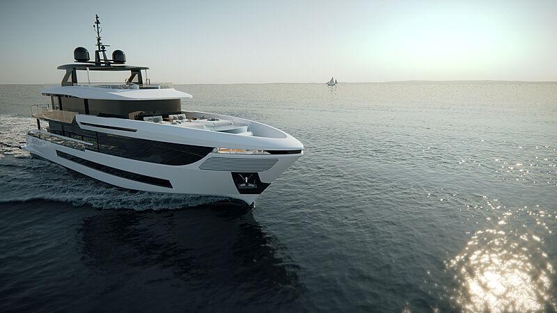 Mangusta Oceano 39 yacht renders