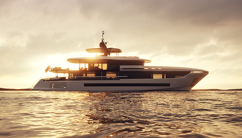 Mangusta Oceano 39 yacht exterior design