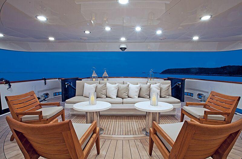 Alessandra yacht aft deck