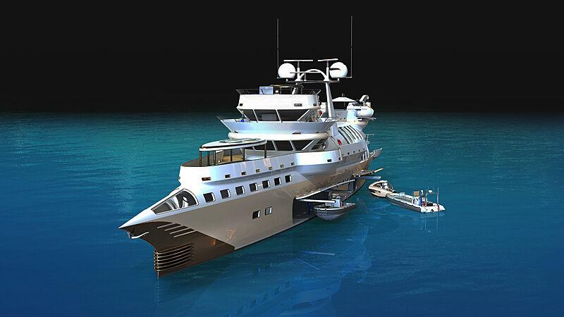 Arctic Owl yacht concept exterior design