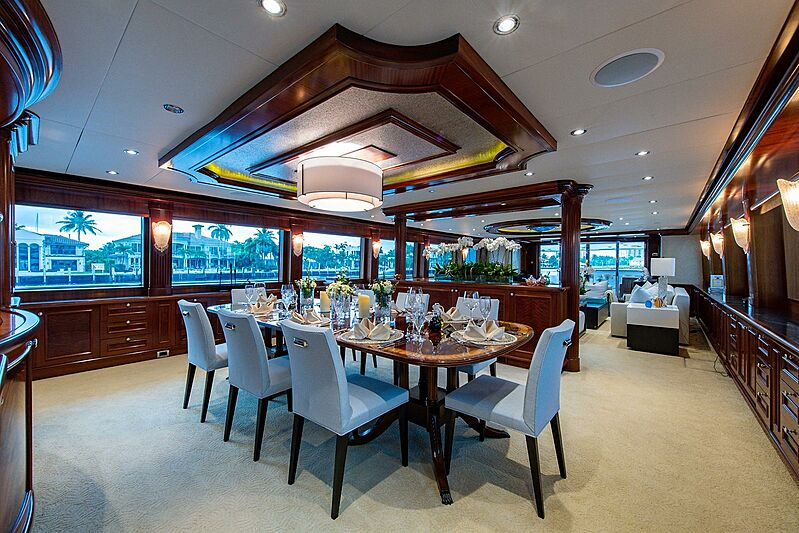 Revive yacht dining room