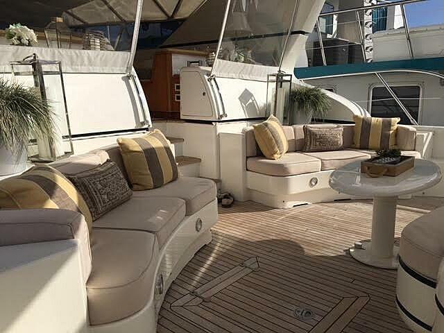 Xoxo yacht aft deck
