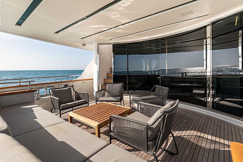 The Unifier King Abdulaziz yacht deck