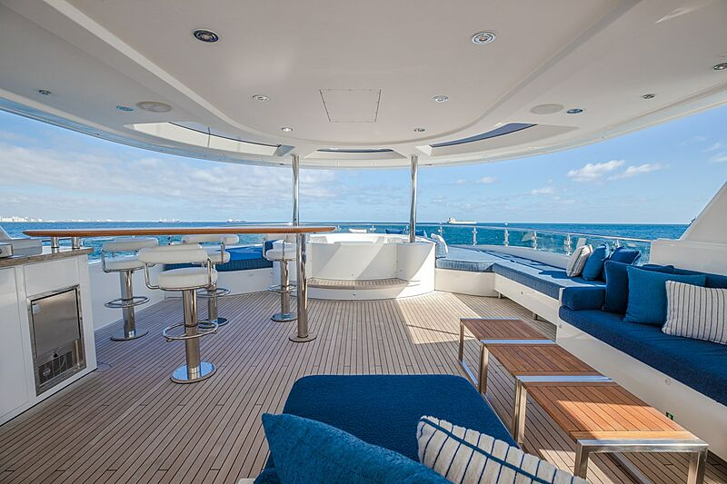 Nina Lu yacht deck
