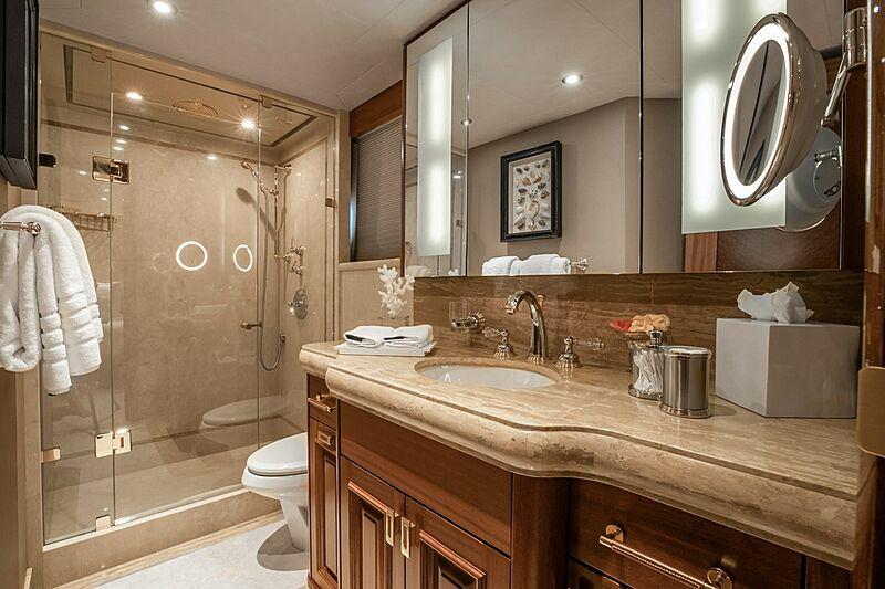 Nina Lu yacht bathroom