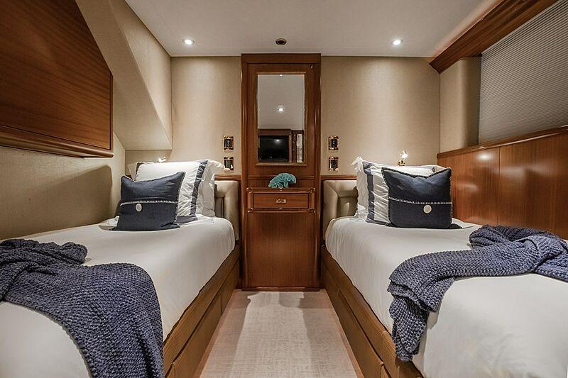 Nina Lu yacht stateroom