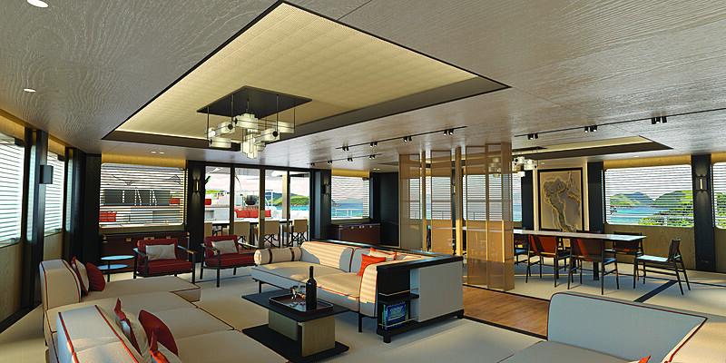SeaXplorer 77 interior design by Monaco Yacht Temptation