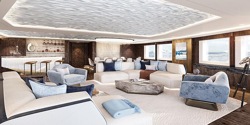 SeaXplorer 77 interior design by Winch Design