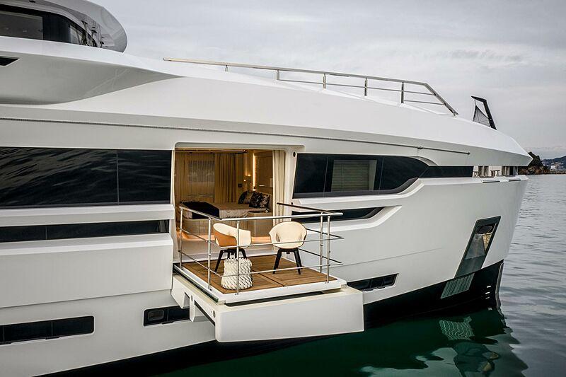 Run Away yacht balcony