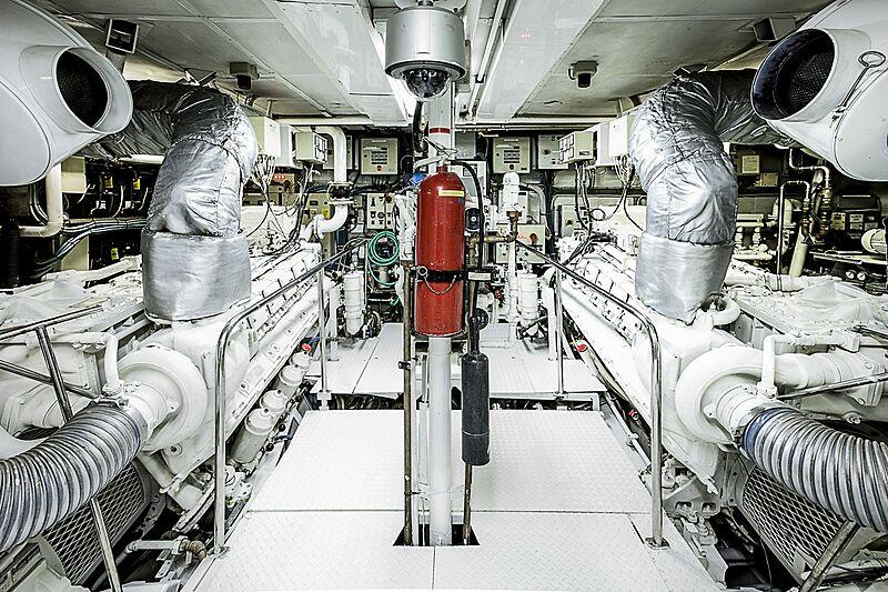 Mistress yacht engine room