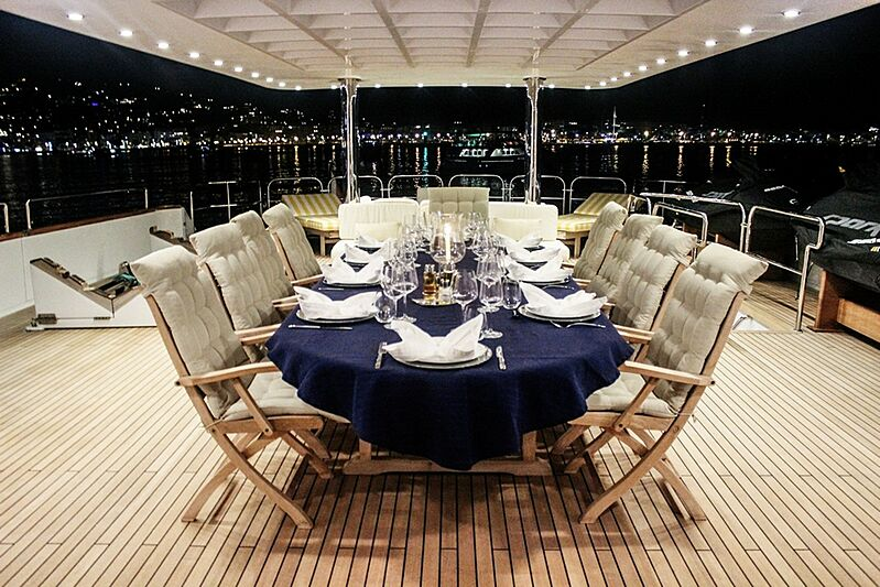 Mistress yacht deck