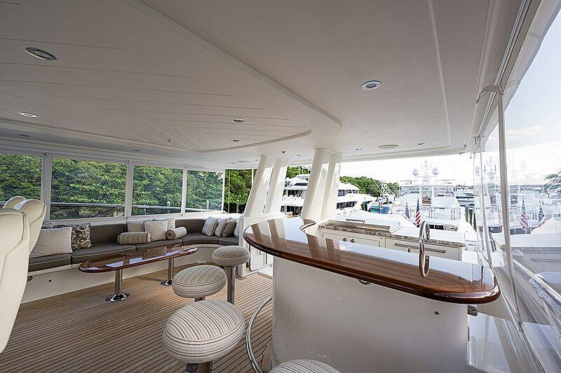 Seahawk yacht  aft deck