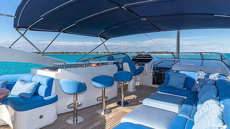 Kefi yacht upper deck