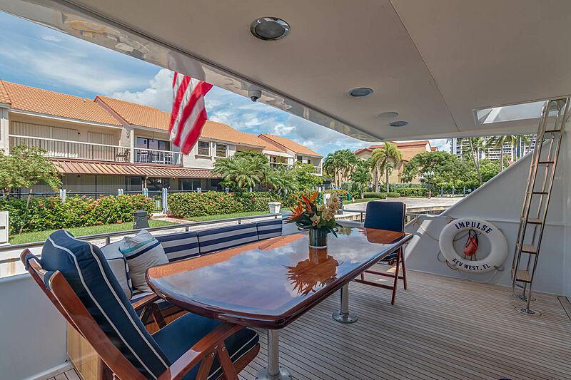Impulse yacht main aft deck