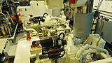 Freemont yacht engine room