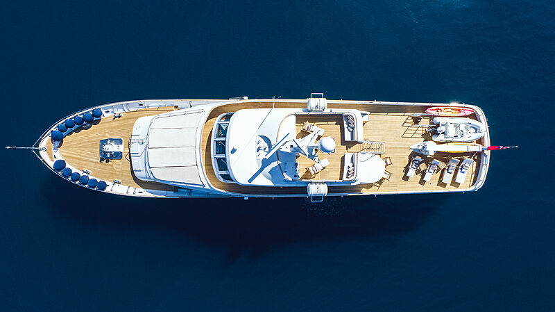 Freemont yacht aerial