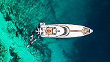 Brazil yacht anchored aerial