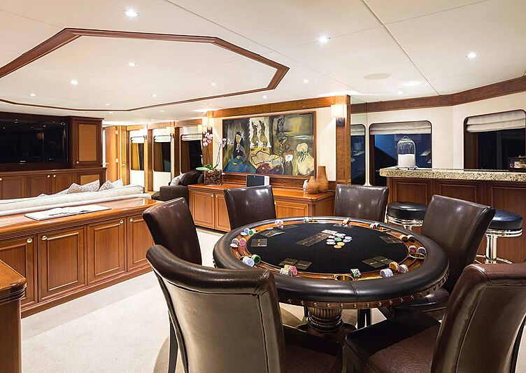 Brazil yacht poker table