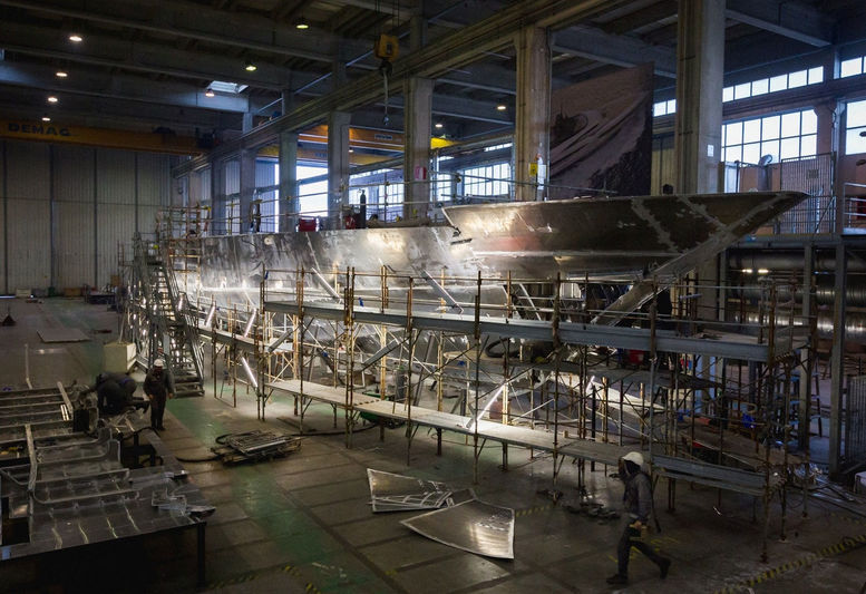 ISA Alloy 43 in build in Ancona