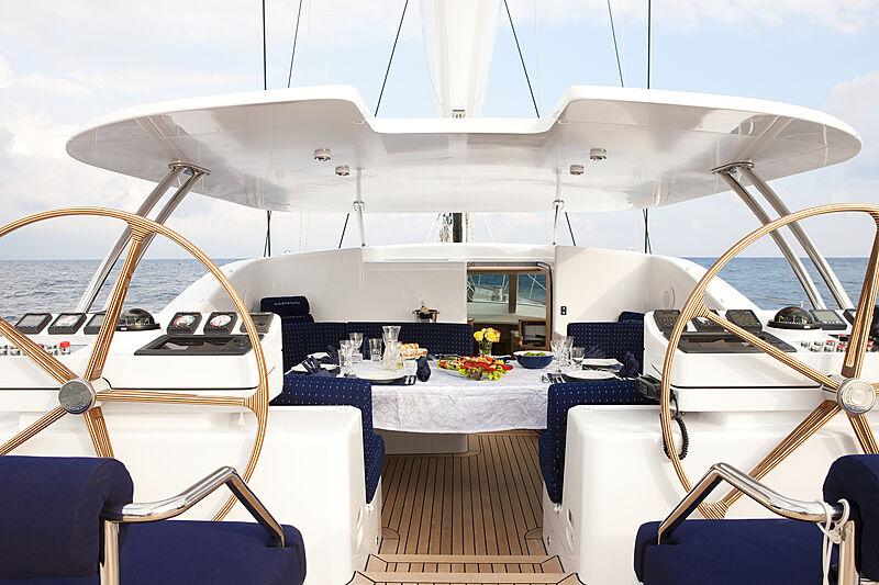 Nostromo yacht deck