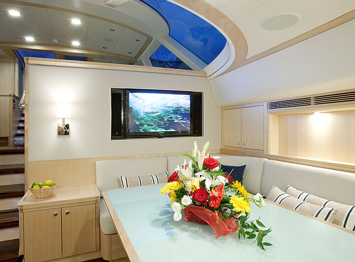Nostromo yacht dining