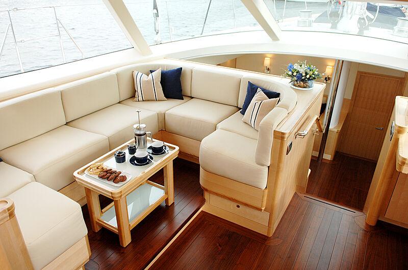 Nostromo yacht saloon