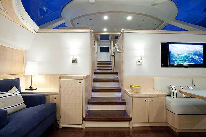 Nostromo yacht staircase