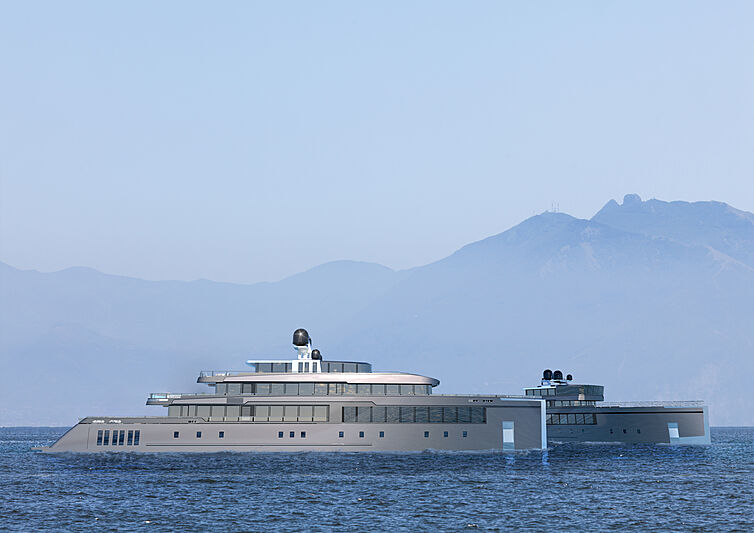 Gill Schmid design 70m Twins yachts